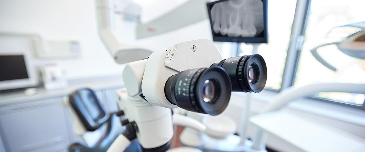 Mikroskop Zahnarztpraxis Haar